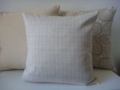 Custom Made Indoor/Outdoor Off White Decorative Pillow