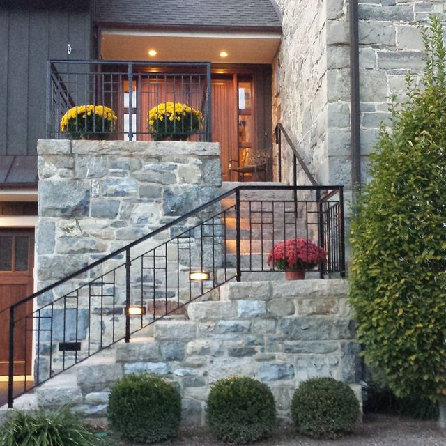 Custom Exterior Forged Iron Railing by Braddee Metal Works ...