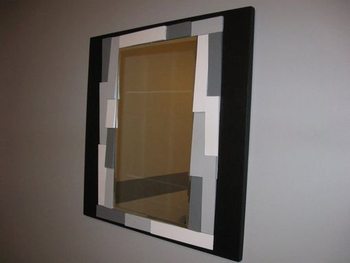 Custom Made Mirror Trimmed With Wood Shims