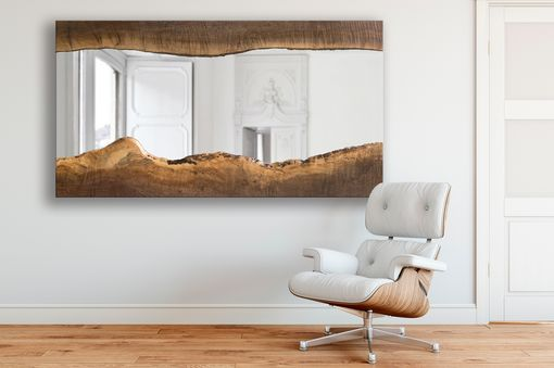 Custom Made Henry - Black Walnut Live Edge Wood Mirror - Modern - Simple - Minimalistic