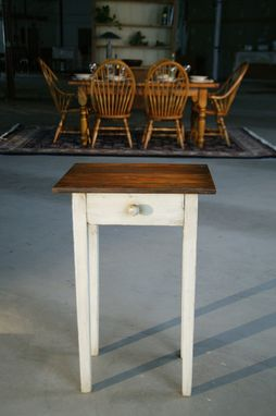 Custom Made Small End Table With Drawer