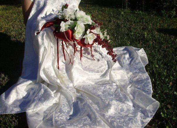 Custom made luxury white roses pearls silk cascading bridal custom made luxury white roses pearls silk cascading bridal bouquet wedding flower packages mightylinksfo