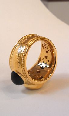 Custom Made Gold Ring With Diamonds And Gems