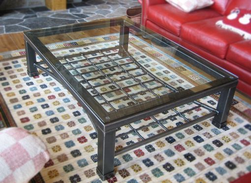 Custom Made Iron & Glass Coffee Table