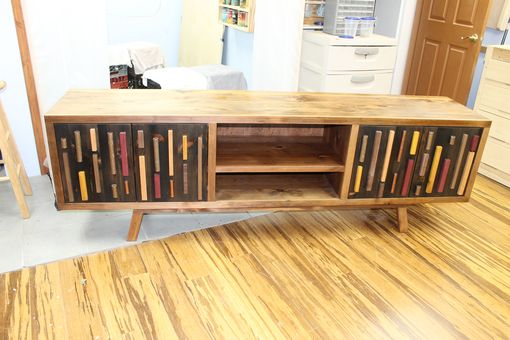 Custom Made Reclaimed Pine Credenza