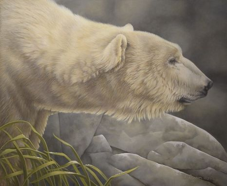 Custom Made Polar Bear Acrylic Painting