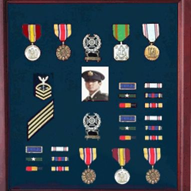 Custom Made Military Medal Case, Shadow Box Photo Holder, Military Medal