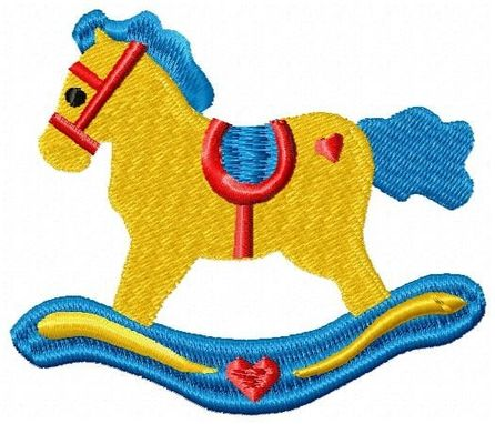 Custom Made Rocking Horse Embroidery Design