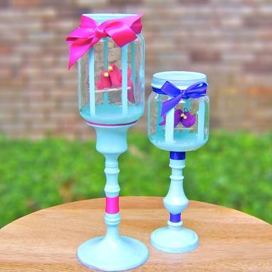 Custom Made Two Lovely Lovebirds - Valentine's Day Decoration - Customizable